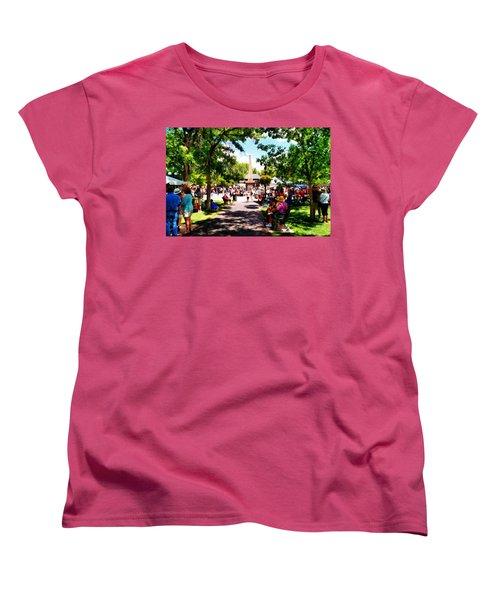 Santa Fe New Mexico Women's T-Shirt (Standard Cut) by Joseph Frank Baraba