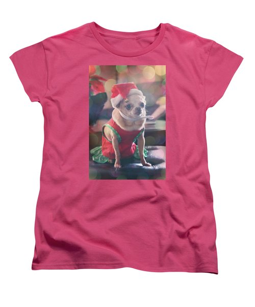 Women's T-Shirt (Standard Cut) featuring the photograph Santa's Little Helper by Laurie Search