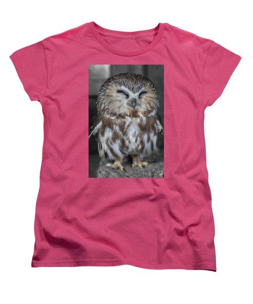 Saw Whet Owl Women's T-Shirt (Standard Cut)