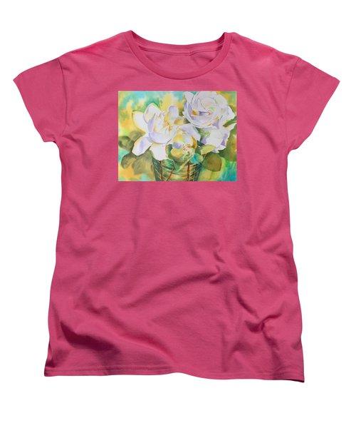Scent Of Gardenias  Women's T-Shirt (Standard Cut) by Tara Moorman
