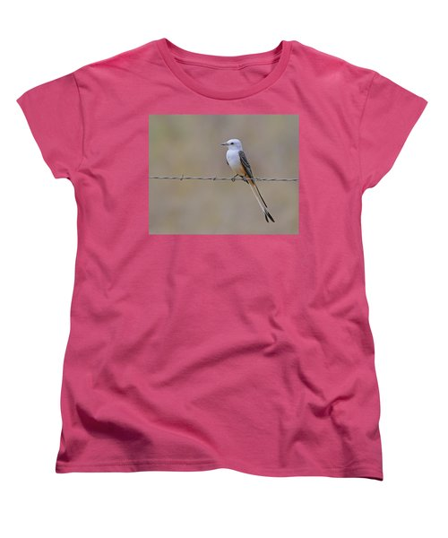 Scissor-tailed Flycatcher Women's T-Shirt (Standard Cut) by Tony Beck