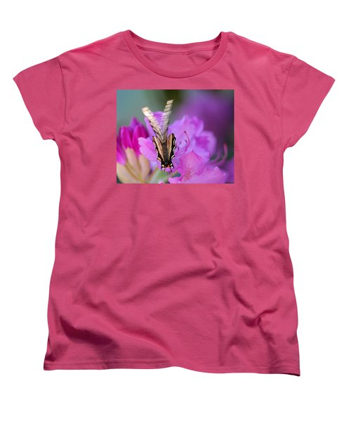 Women's T-Shirt (Standard Cut) featuring the photograph Scissorwings by Susan Capuano
