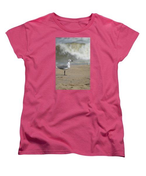 Women's T-Shirt (Standard Cut) featuring the photograph Sea Gull by Heidi Poulin