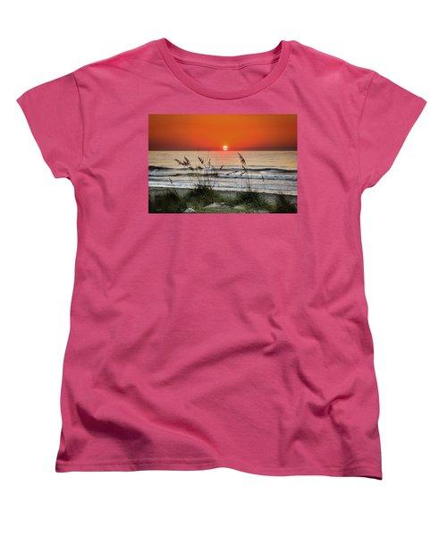 Sea Oats Sunrise Women's T-Shirt (Standard Cut) by Phil Mancuso