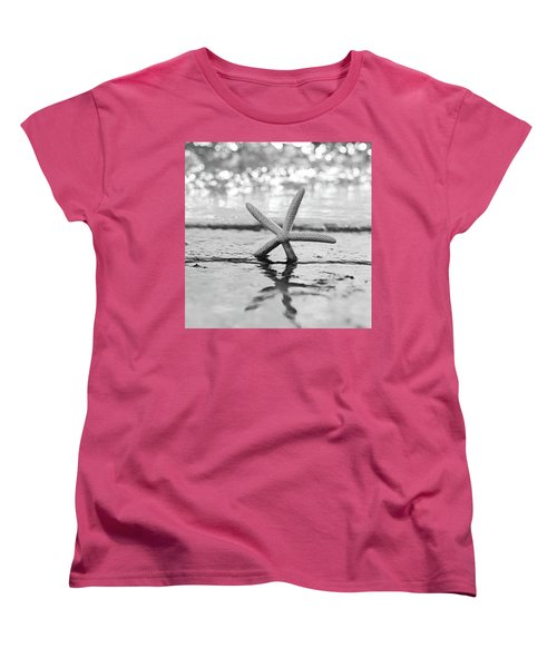 Sea Star Bw Women's T-Shirt (Standard Cut) by Laura Fasulo