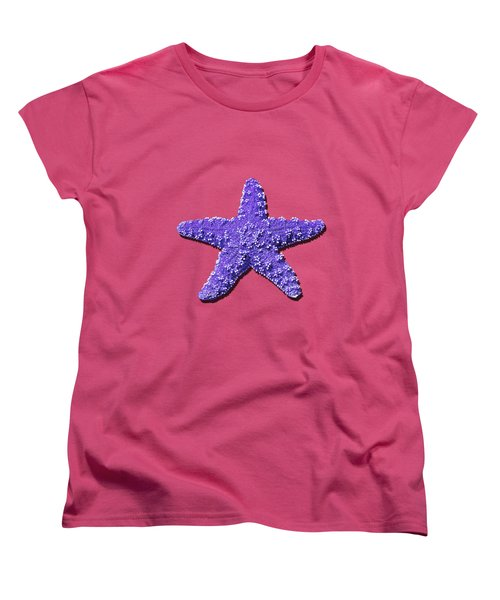 Sea Star Purple .png Women's T-Shirt (Standard Cut) by Al Powell Photography USA