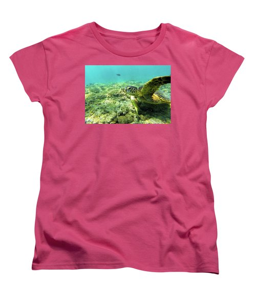 Women's T-Shirt (Standard Cut) featuring the photograph Sea Turtle #2 by Anthony Jones