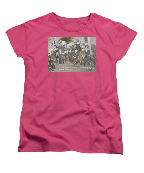 Women's T-Shirt (Standard Cut) featuring the painting Seacombe Picnic by Judith Desrosiers