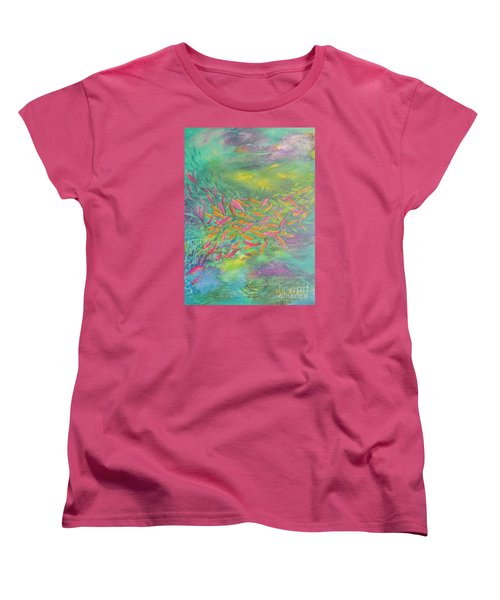 Women's T-Shirt (Standard Cut) featuring the painting Searching by Lyn Olsen