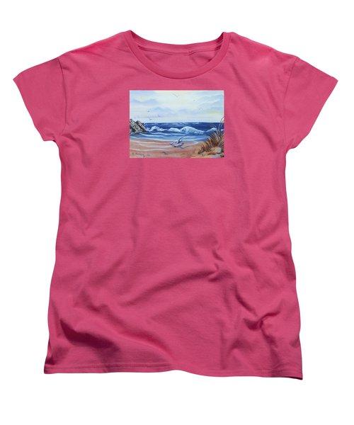 Seascape Women's T-Shirt (Standard Cut) by Denise Fulmer