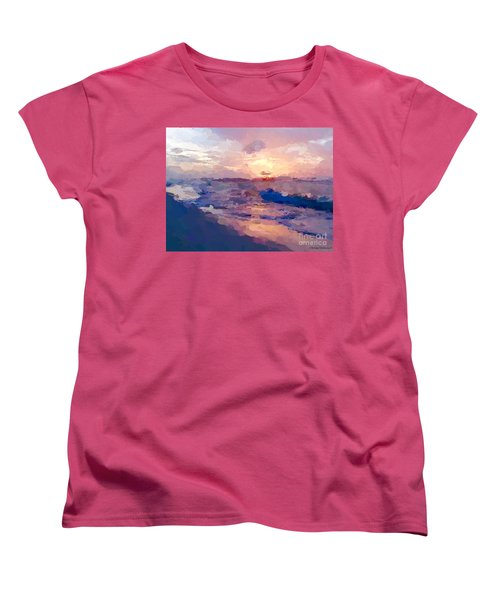 Women's T-Shirt (Standard Cut) featuring the mixed media Seaside Swirl by Anthony Fishburne