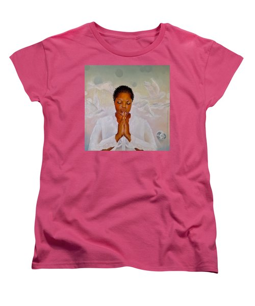 Women's T-Shirt (Standard Cut) featuring the painting Secret Closet by Christopher Marion Thomas