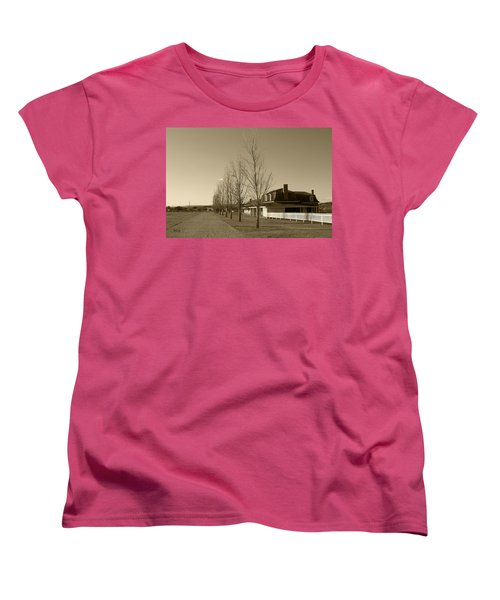 Women's T-Shirt (Standard Cut) featuring the photograph Sedona Series - Alley by Ben and Raisa Gertsberg