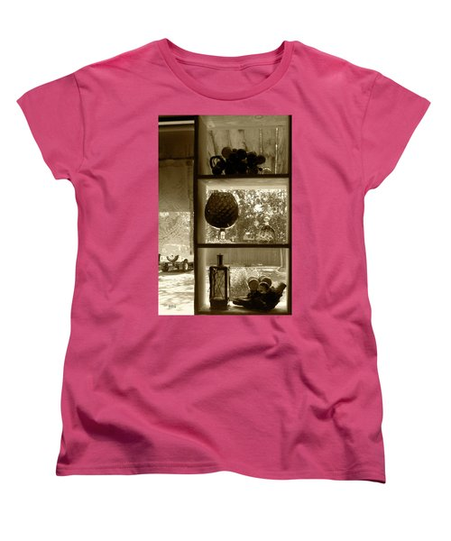 Women's T-Shirt (Standard Cut) featuring the photograph Sedona Series - Window Display by Ben and Raisa Gertsberg