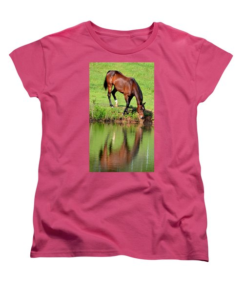 Seeing My Own Reflection Women's T-Shirt (Standard Cut) by Maria Urso