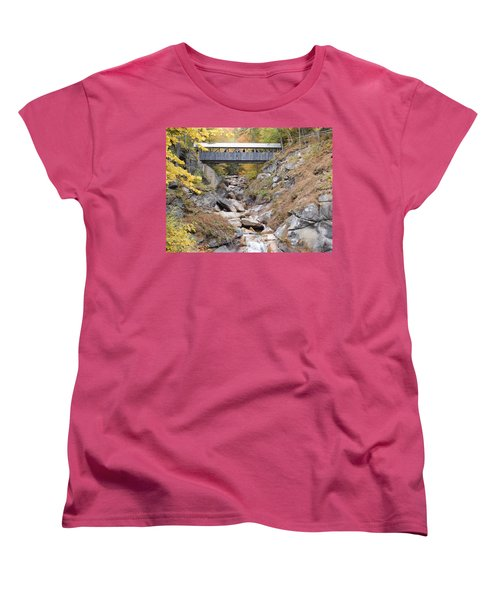 Sentinel Pine Covered Bridge Women's T-Shirt (Standard Cut) by Catherine Gagne