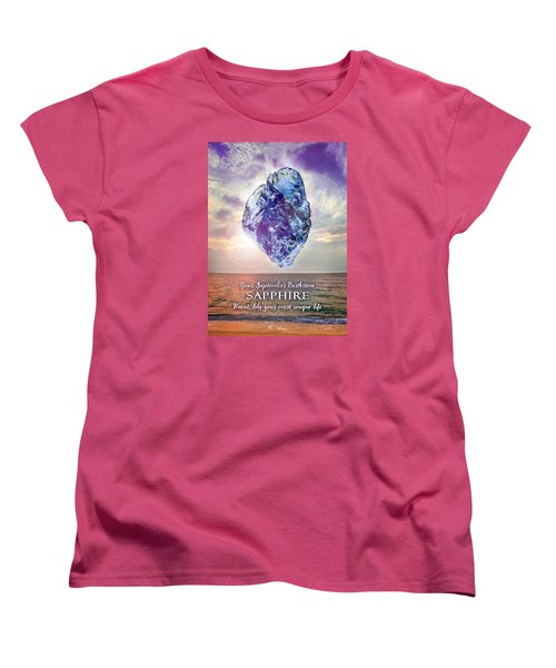 September Birthstone Sapphire Women's T-Shirt (Standard Cut)