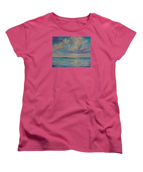 Serene Sea Women's T-Shirt (Standard Cut) by AnnaJo Vahle