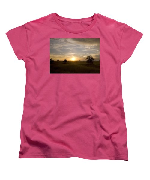 Serengeti Sunset Women's T-Shirt (Standard Cut) by Patrick Kain
