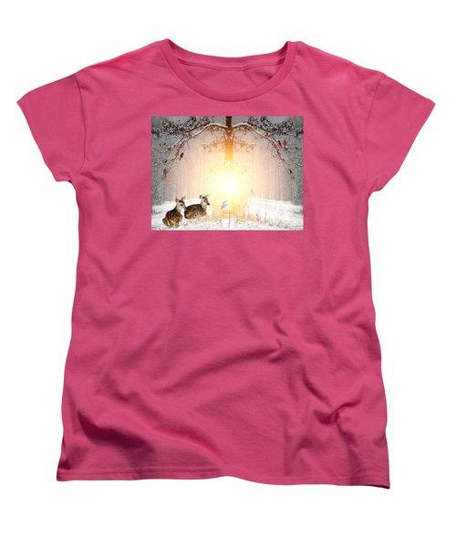 Shalom Women's T-Shirt (Standard Cut) by Bill Stephens