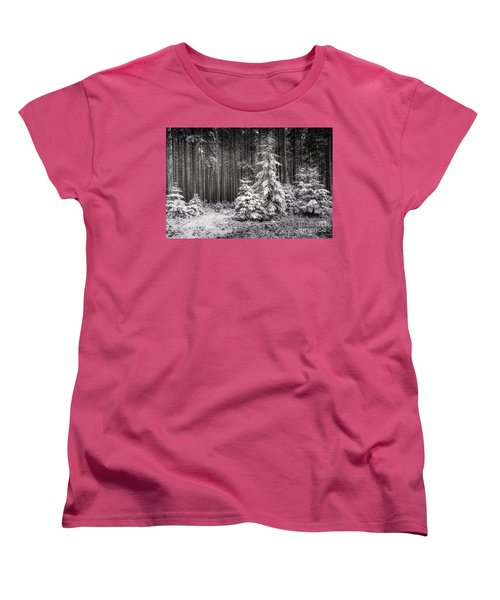 Women's T-Shirt (Standard Cut) featuring the photograph Sheltered Childhood by Hannes Cmarits
