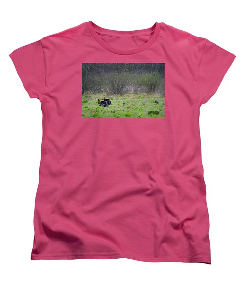 Women's T-Shirt (Standard Cut) featuring the photograph Showing Off by Bill Wakeley