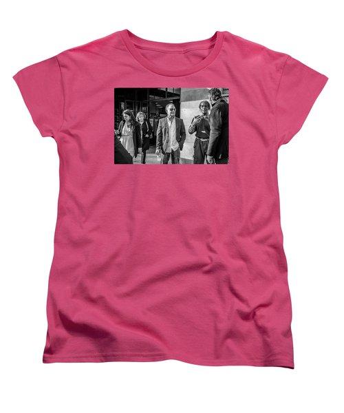 Women's T-Shirt (Standard Cut) featuring the photograph Sidewalk Circulation by David Sutton
