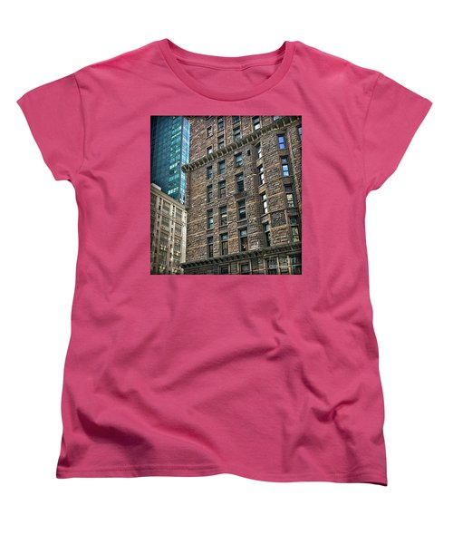 Women's T-Shirt (Standard Cut) featuring the photograph Sights In New York City - Old And New by Walt Foegelle