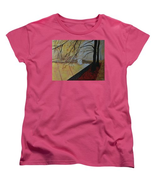 Women's T-Shirt (Standard Cut) featuring the painting Silence by Leslie Allen