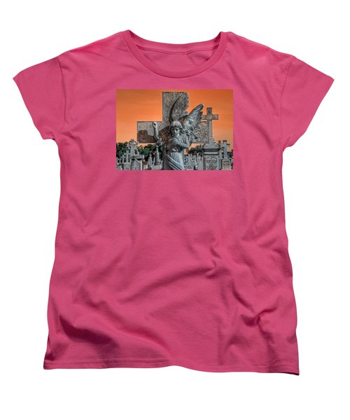 Silent Vigil Women's T-Shirt (Standard Cut) by Wayne Sherriff