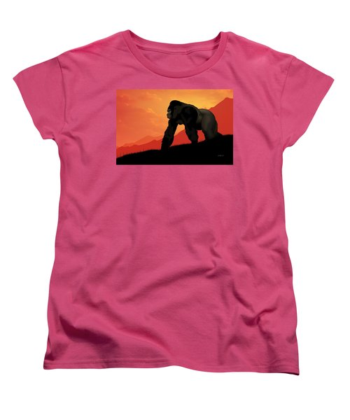 Silverback Gorilla Women's T-Shirt (Standard Cut) by John Wills