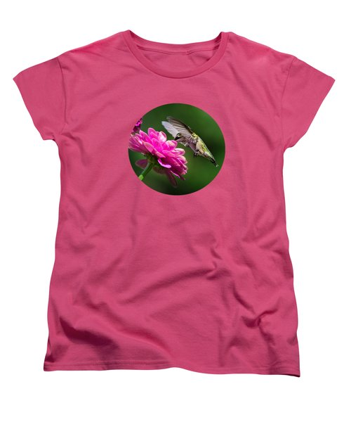 Simple Pleasure Hummingbird Delight Women's T-Shirt (Standard Cut) by Christina Rollo