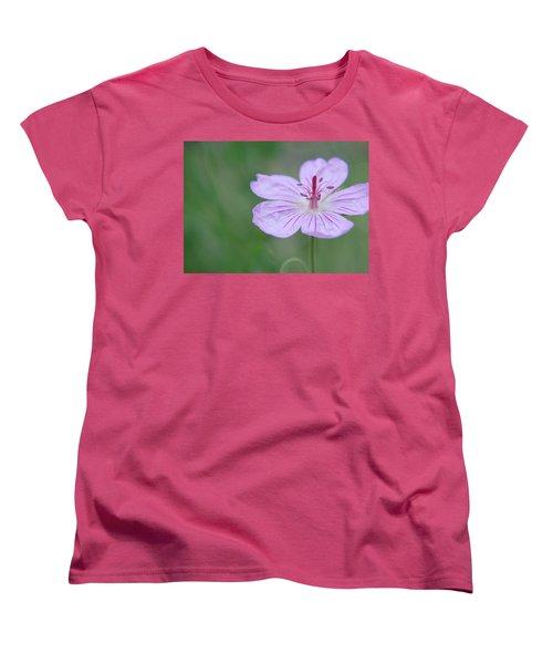 Simplicity Of A Flower Women's T-Shirt (Standard Cut)