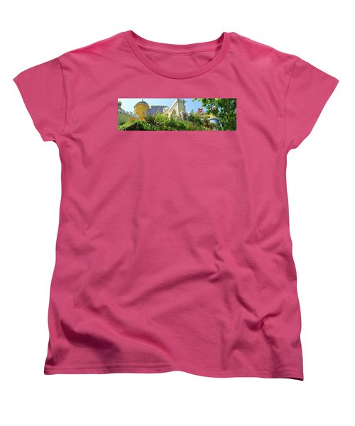 Women's T-Shirt (Standard Cut) featuring the photograph Sintra Castle by Patricia Schaefer