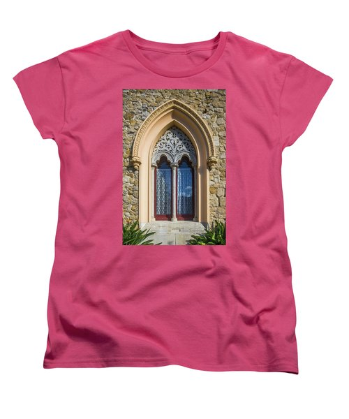Women's T-Shirt (Standard Cut) featuring the photograph Sintra Window by Carlos Caetano