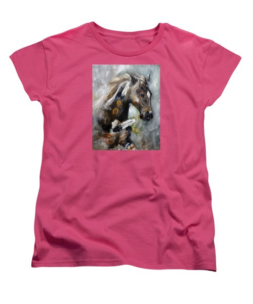 Sioux War Pony Women's T-Shirt (Standard Cut) by Barbie Batson
