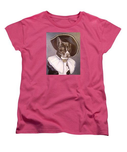 Women's T-Shirt (Standard Cut) featuring the painting Sir Pibbles by Laura Aceto