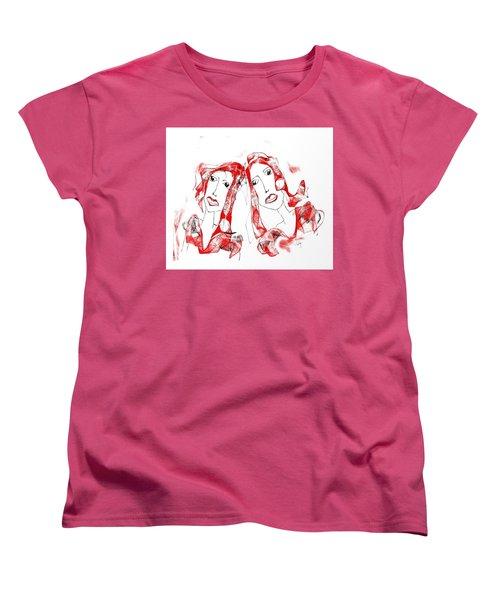 Women's T-Shirt (Standard Cut) featuring the digital art Sisters by Sladjana Lazarevic