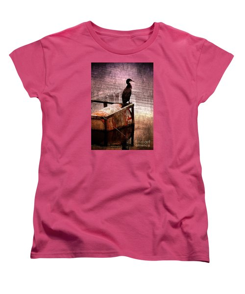 Sitting On The Dock Of The Bay Women's T-Shirt (Standard Cut) by Clare Bevan