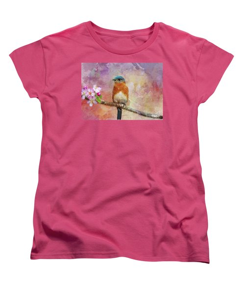 Sitting Pretty Women's T-Shirt (Standard Cut) by Geraldine DeBoer