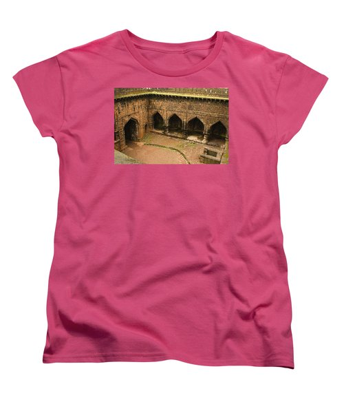 Skc 3278 The Ancient Courtyard Women's T-Shirt (Standard Cut) by Sunil Kapadia