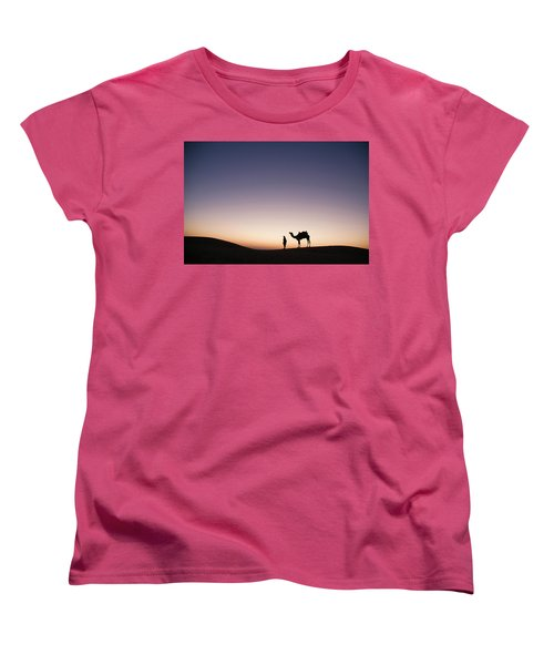 Skn 0860 Dawn At The Dunes Women's T-Shirt (Standard Cut) by Sunil Kapadia