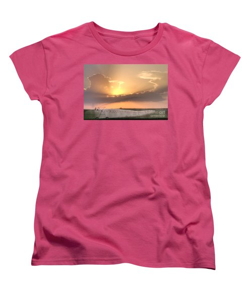 Sky And Water Women's T-Shirt (Standard Cut) by Art Whitton