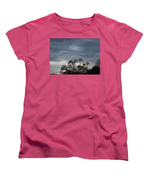 Women's T-Shirt (Standard Cut) featuring the photograph Sky Of Ribbons by Ramona Whiteaker