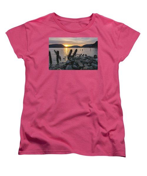 Sleepy Waterfront Dream Women's T-Shirt (Standard Cut) by Angelo Marcialis