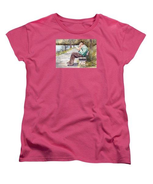 Small Print Women's T-Shirt (Standard Cut) by Sam Sidders