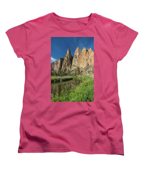 Women's T-Shirt (Standard Cut) featuring the photograph Smith Rock Spires by Greg Nyquist