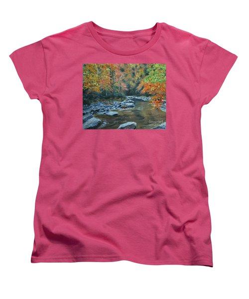 Smokey Mountain Autumn Women's T-Shirt (Standard Cut) by Stanton Allaben