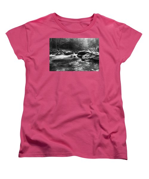 Women's T-Shirt (Standard Cut) featuring the photograph Smoky Mountain River by Jay Stockhaus