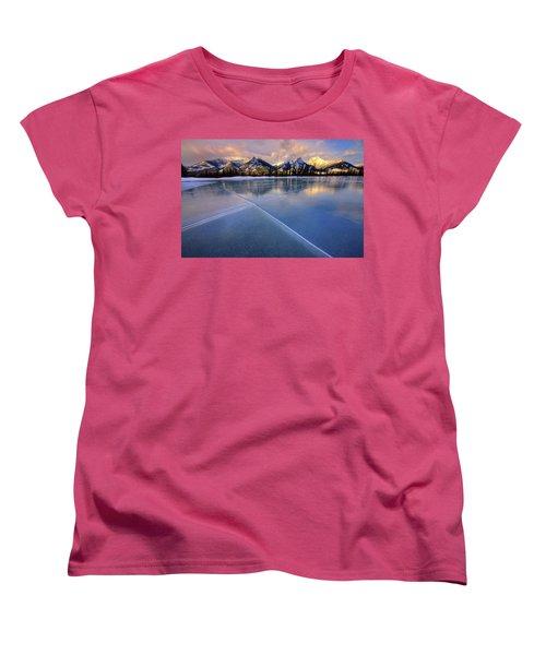 Women's T-Shirt (Standard Cut) featuring the photograph Smooth Ice by Dan Jurak